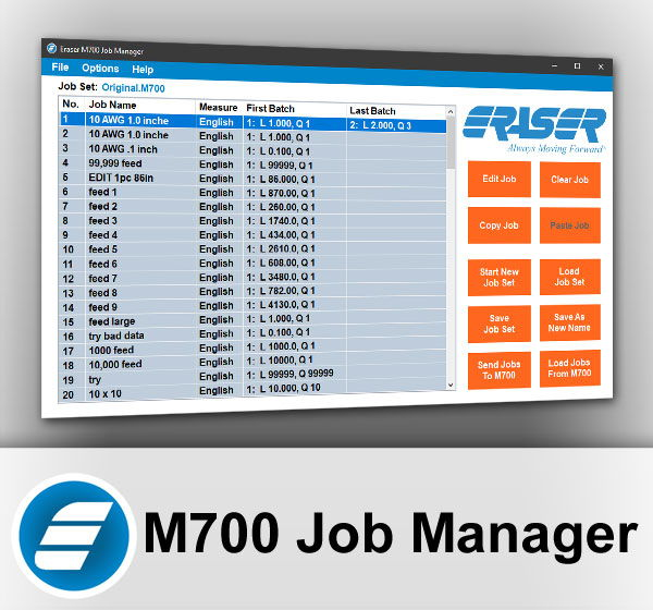 M700 Job Manager Software